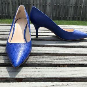 Nine West Electric Blue Heels